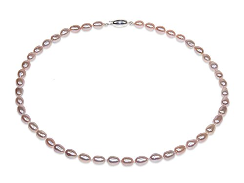 Lena - Lavender Oval Pearl Necklace