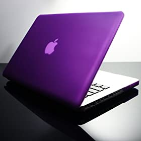 NEW DESIGN TopCase PURPLE Rubberized Crystal See Thru Satin Hard Case Cover for NEW Macbook Pro 13-inch 13