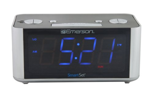 Brand New Emerson Cks1708 Smart Set Radio Alarm Clock Ebay