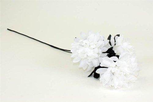 Weiß Mum Spray mit Lila Blatt Künstliche Blume Pflanze