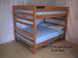 Amazon Low Height FullFull Bunk Bed Light Sierra