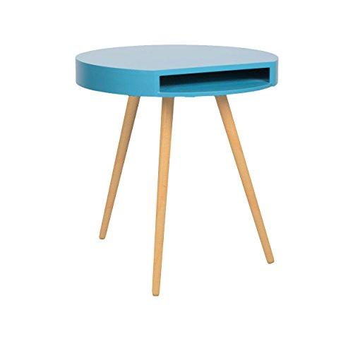 beistelltisch couchtisch rund holz 40cm weiss blau gelb 1530650 blau. Black Bedroom Furniture Sets. Home Design Ideas
