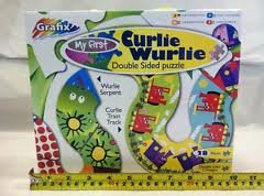 Grafix Puzzle, Curlie Wurlie Double Sided - 1