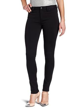 Calvin Klein Jeans Women's Liquid Metal Jean Legging, Black, 2 Petite