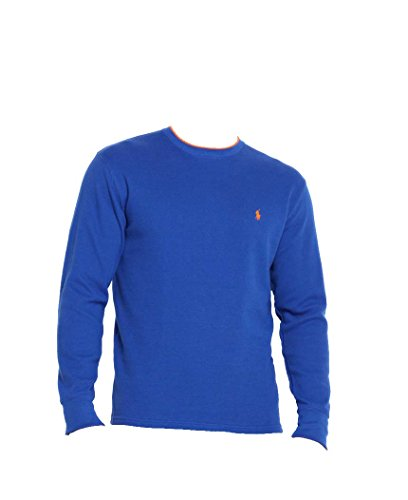 Polo Ralph Lauren Men's Long-sleeved T-shirt / Sleepwear / Thermal (Large, Royal Blue/Orange Tipped) (Ralph Lauren Thermal Hoodie compare prices)