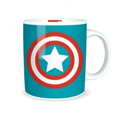 Marvel Comics Captain America Boxed tazza di ceramica Logo Shield Ufficiale