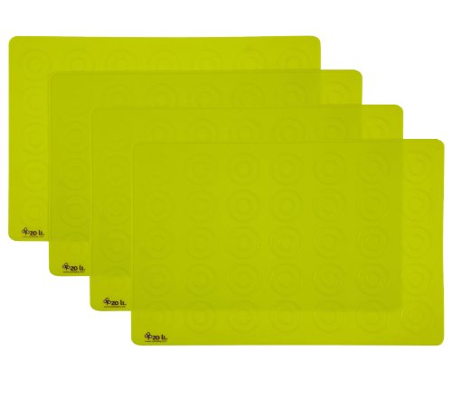 Zoli Baby Matties Silicone Place Mats 4 Pack - Green