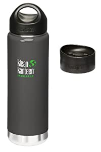 Klean Kanteen Coffee Set Wide Mouth Insulated Bottle w/ 2 Caps (Stainless Loop Cap and Cafe Cap) - Albatrosse Gray 20 oz at Sears.com