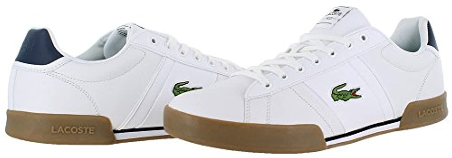 Lacoste Men's Deston HCR White/Tan 11 M US