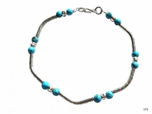 Luna Tree Jewellery Fair Trade Silver Jeanette Bracelet 0.5Cm Wide Bracelet 20Cm Long - Carnelian