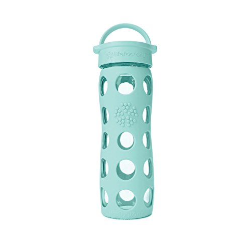 Lifefactory 16Oz Glass Beverage Bottle Turquoise
