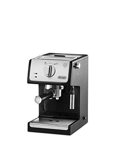De-Longhi-Cafetire-espresso-adapt-pour-caf-moulu-et-dosettes-ESE-Noirgris