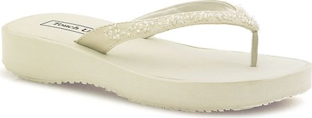 Touch Ups Women's Macy Sandals,Ivory,7 M Picture