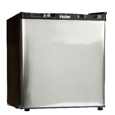 Haier HNSB02SS 1-2/3-Cubic-Foot Freestanding Refrigerator/Freezer, Stainless Steel