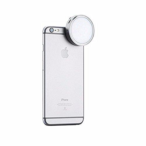 Boblov YongNuo YN06 universel Mini Smart Phone Selfie LED Flash Light pour iPhone 6 s 6 avec un porte-clés (Argent)