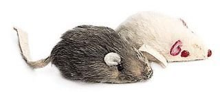 Ethical Cat Twin Pack Fur Mouse 2 Inch - 2957