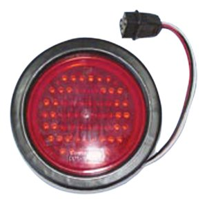 Fasteners Unlimited 003-5524R Red LED Round Tail Light