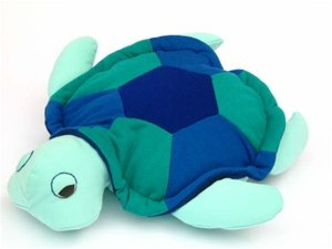 Hot PETS, Turtle. Blue-Green. Stuffed animal. Fair Trade, Natural. Handmade by micro-sensations