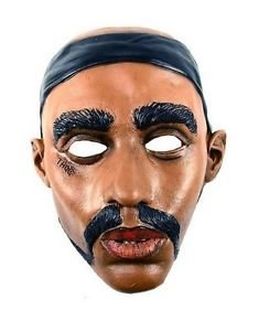 [Tupac Thug Life Rapper Black Mask Costume Accessory Celebrity Adult Halloween] (Thug Life Halloween Costumes)