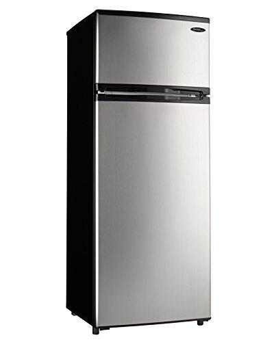 Mid-Size Refrigerator – Black with Spotless Steel Door