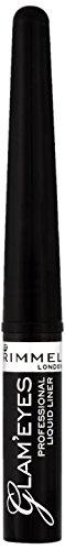 Rimmel Glam Eyes Liquid Liner Black Glamour 0.12 Fluid Ounce