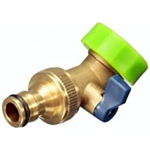 3/4 Inch Brass Water Hose Tap Elbow Connector Garden Irrigation With Valve
