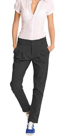 n.n pantalon femme, pantalon pour femmes, pantalon chino j65p 42/XL Noir