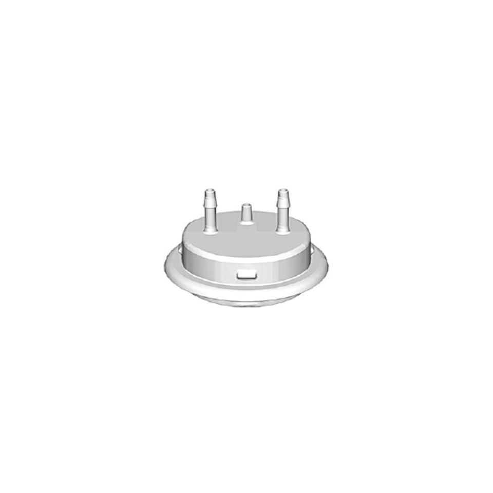 VersaCap 205 5331 RLS Polypropylene Adapter, 1/8 Hose Barb x 2 and Vent, No Quick Connector, 50mm Cap Size