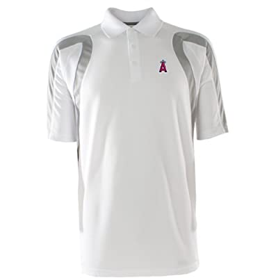 MLB Men's Los Angeles Angels Point Desert Dry Polo