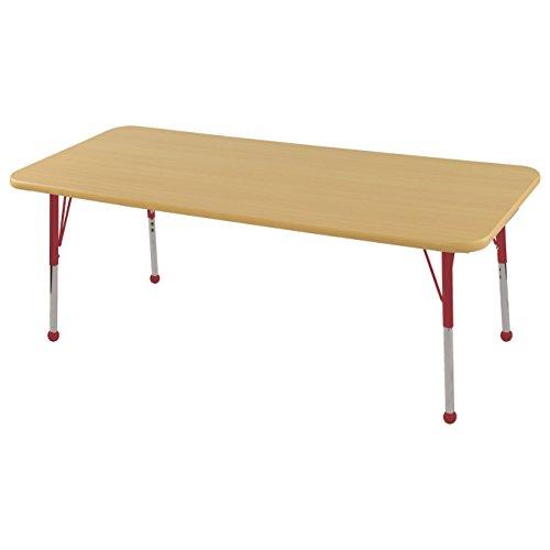 Ecr4kids t mold 30 x 60 rectangular activity school table standard legs w ball glides - Table glides for legs ...