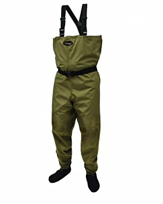 Frogg Toggs Canyon Taslan Breathable Stockingfoot Wader, Khaki/Stone