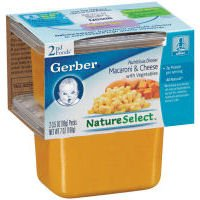 Gerber NatureSelect 2nd Foods Nutritious Dinners Macaroni and Cheese -- 8 Containers (015000073299)