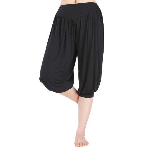 djt sarouels pantacourt elastique extensible pants femme taille unique v tements femme. Black Bedroom Furniture Sets. Home Design Ideas