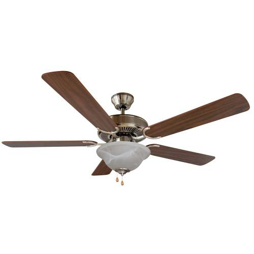 Yosemite Home Decor 52 Inch Ceiling Fan - White Nickel Finish - CALDER-SN-1