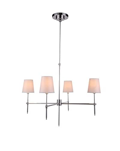Urban Lights Baldwin 6-Light Chandelier, Polished Nickel