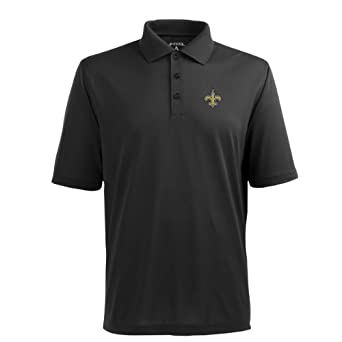NFL Mens New Orleans Saints Pique Xtra Lite Desert Dry Polo Shirt by Antigua