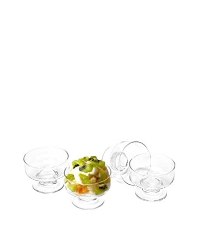 Circleware Set of 10 Party 8-Oz. Dessert Dishes, Clear