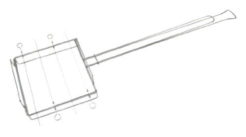Rome Industries 2031 4-Up Kebeb Rack