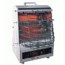 B000M2U3KS TPI Corporation 198TMC Fan Forced Portable Heater, Radiant, 1500/900/600W, 120V