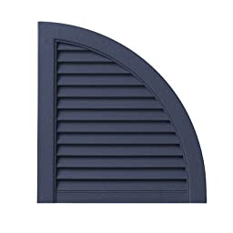 Open Louvered Arch Top (Set of 2) Color: Georgetown Blue