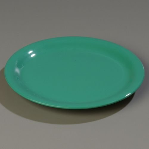 "Carlisle CFS4300409 Durus Narrow Rim Dinner Plate, 9/10"" High, 9"" Diameter, Melamine, Green, 24 Per Case by Carlisle"