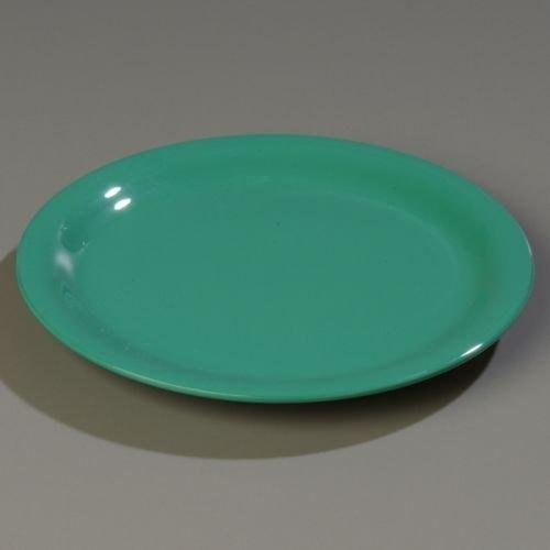 "Carlisle CFS4300409 Durus Narrow Rim Dinner Plate, 9/10"" High, 9"" Diameter, Melamine, Green, 24 Per Case by Carlisle"