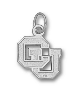 Colorado Buffaloes CU 1 2 Charm - Sterling Silver Jewelry by Logo Art