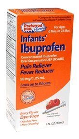 Ibuprofen Infants Pain Reliever Fever Reducer Drops, Berry Flavor, Dye Free - 1 Oz
