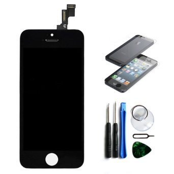 OEM Black Retina LCD Touch Screen Digitizer Glass Replacement Full Assembly for iPhone 5C (Iphone 5c Replacement Digitizer compare prices)