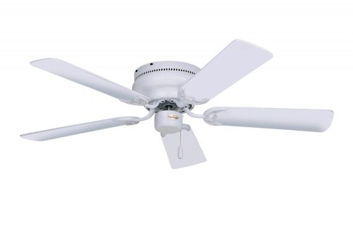 Emerson CF805SWW Snugger Indoor 52-Inch 5-Blade Ceiling Fan with White/Bleached-Oak Blades, White