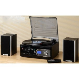 Cheapest price for  Steepletone Recordable SMC99R 4-In-1 CD/MP3/SD/Vinyl Music Centre