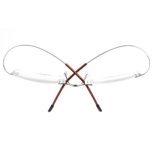 liansan titanium rectangle reading glasses rimless