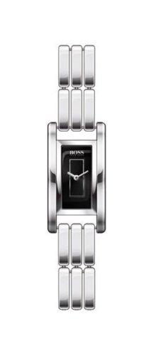 Hugo Boss - 1502105 - Ladies Watch Rectangulaire - Analogue Quartz - Steel Strap - Black