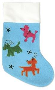 Plush Puppues Christmas Stocking sm blue